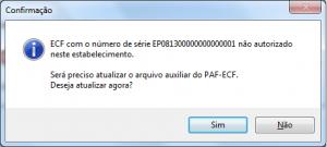 Atualização de Arquivo do Paf-Ecf