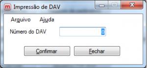 Impressão de DAV.