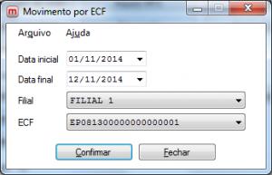 Arquivo de Movimento por ECF.