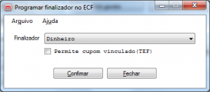 Programar Finalizadores no ECF.