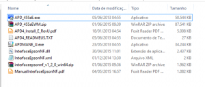 Arquivo de instalação do driver