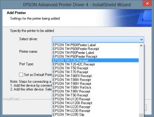 Selecionar impresora